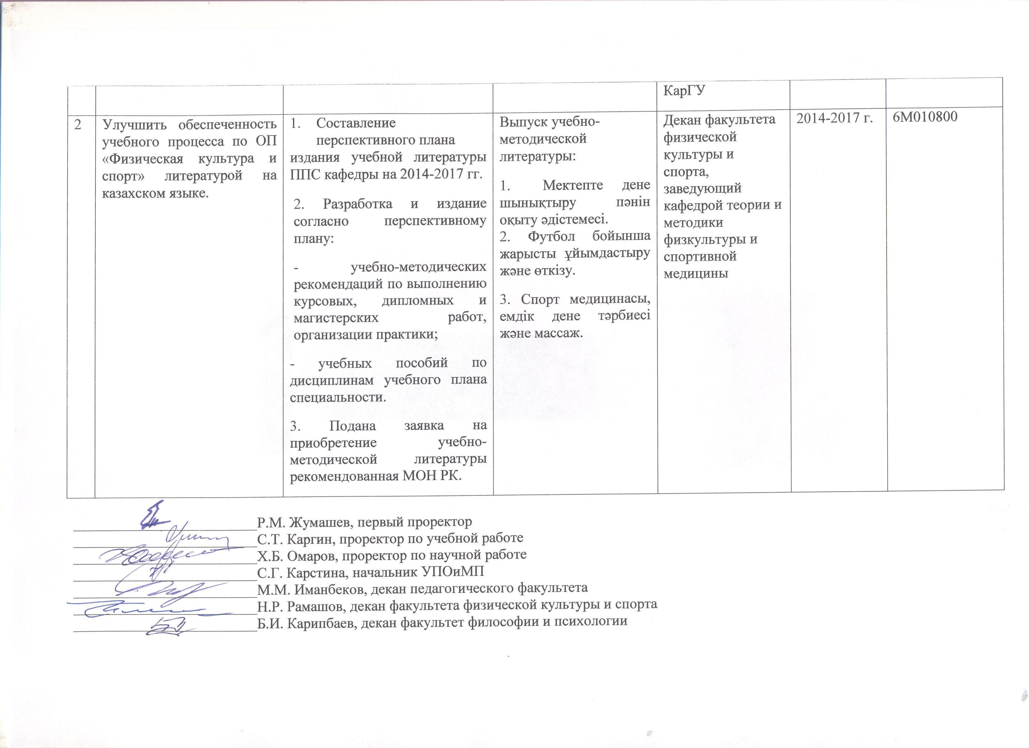 План ПФ, ФКиС, ФПФ